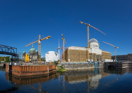 Berlin Palace construction site panorama (Stadtschloss, Berlin)