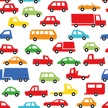 patten: car collection seamless patten - automobile set