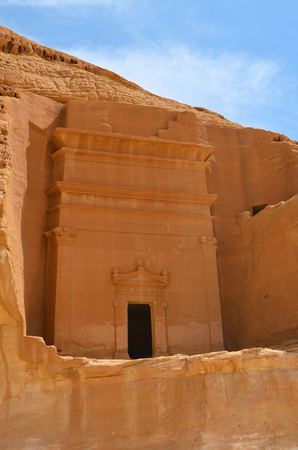 nabatean: tomb entrance in Madain Saleh, Saudi Arabia