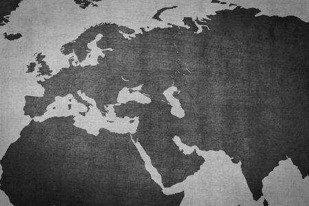 eurasia: Eurasia, Europe, Asia map on vintage background  - world map