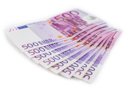 500 Euro bills - European currency cash  money