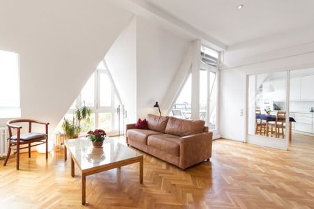 apartment living: living room in beautiful apartment home Stock Photo