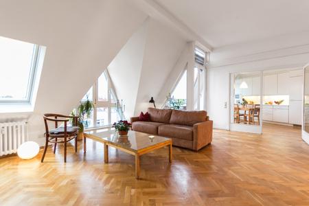 woonkamer, mooi interieur met houten vloer