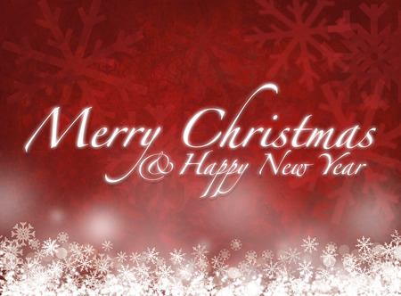 merry christmas and happy new year - greeting card