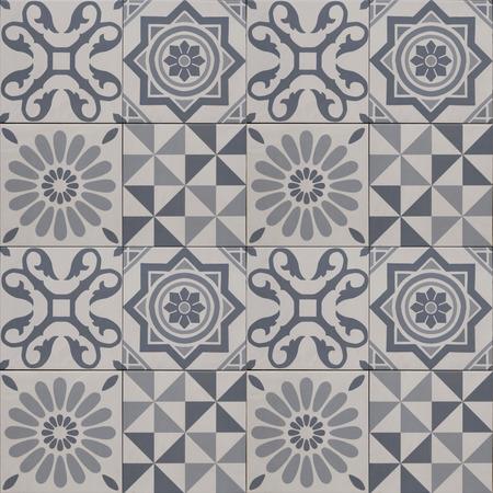 mixed wallpaper: decorative tile pattern - geometric patchwork design