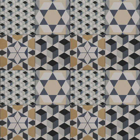 ceramic tiles: decorative tile pattern - geometric patchwork design