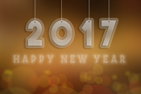 nye: 2017 Happy New Year 2017 Stock Photo