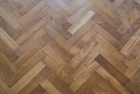 herringbone parquet floor - old wooden floor