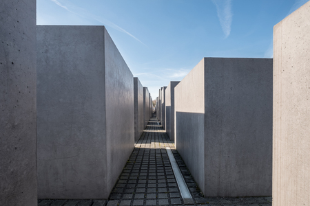 The Memorial to the Murdered Jews of Europe also known as the Holocaust Memorial in Berlin, Germany.
