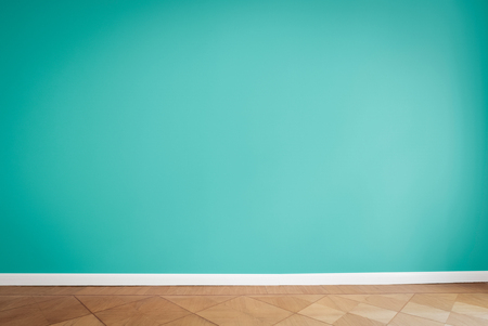 painted wall background in empty apartment room