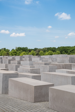 The memorial of the Murdered Jews in Europe, also known as the Holocaust Memorial in Berlin. Editorial