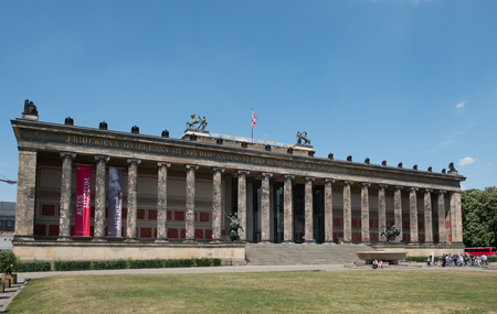 antiquity: The front facade of the Altes Museum (German for Old Museum) on Museum Island in Berlin, Germany.