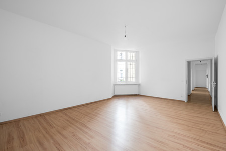 Empty Room Wooden Floor In New Apartment Stock Photo Picture And