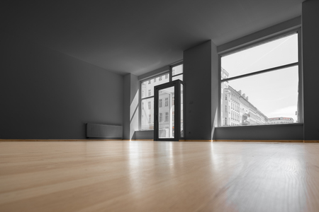 empty shop, vacant room with shopping window