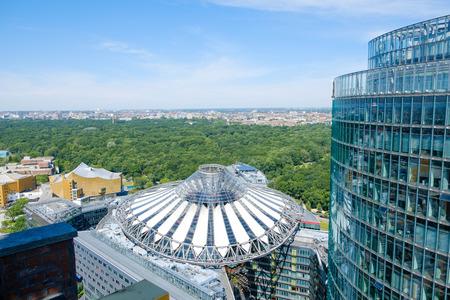 Berlin, Germany - june 9, 2017: Roof of the Sony Center at Potsdamer Platz in Berlin, Germany.