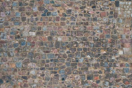 Historic stone wall background - old stone Imagens