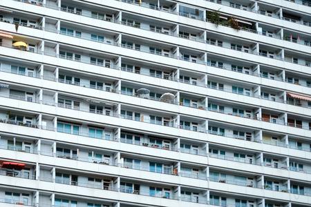 apartment building facade - residential building complex exterior
