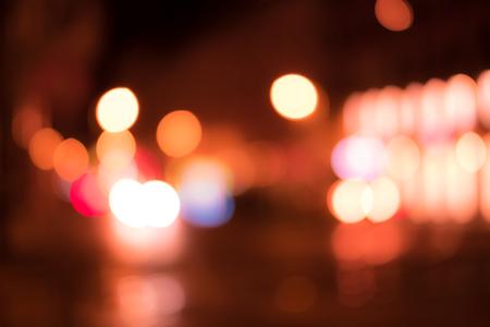 abstract city lights  at night - bokeh lights