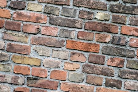 crack: vintage brick wall -  stone brick wall Stock Photo