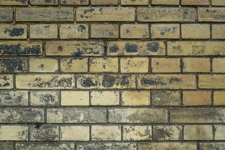 crack: vintage brick stone wall background - old brickwork
