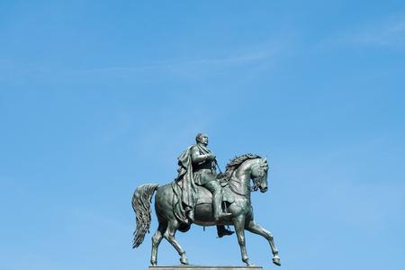 man on horse, horseman statue isolated . frederick wilhelm  Friedrich Wilhelm IV