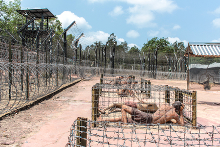 Inside the Coconut Tree Prison, the Vietnam War museum on Phu Quoc Island in Vietnam