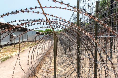 코코넛 나무 감옥 안에, 베트남의 Phu Quoc Island에 관한 베트남 전쟁 박물관