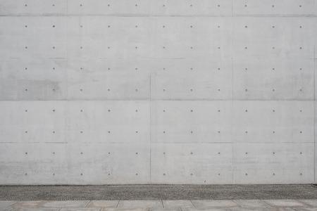 Gehweg / Bürgersteig und Sichtbeton Wand Hintergrund -