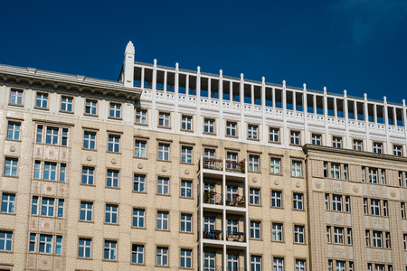 residential building exterior in Berlin - building facade