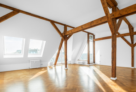 real estate interior - penthouse flat, empty room