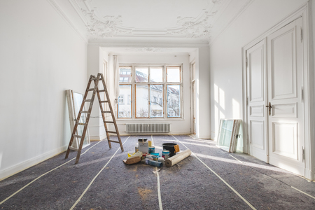 renovation - old flat during  restoration / refurbishment 스톡 콘텐츠