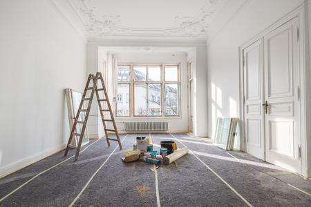 renovation - old flat during  restoration / refurbishment Standard-Bild