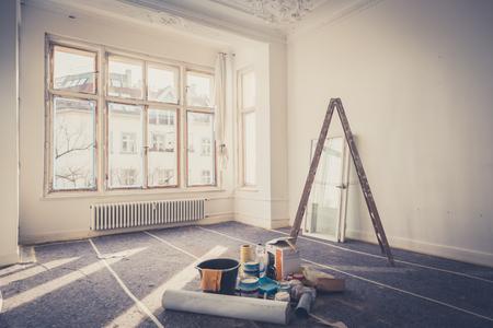 renovation concept - room  during restoration  Фото со стока