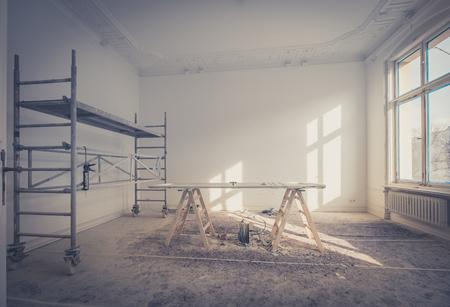 woningrenovatie - kamer tijdens renovatie / restauratie
