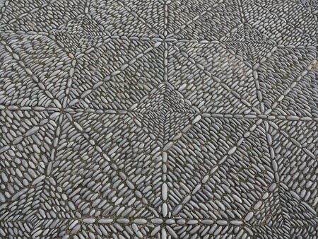 stone mosaic pavement, beautiful cobble stone sidewalk
