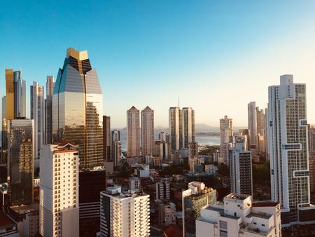 panama city skyline - modern city skyline - skyscraper building panorama -