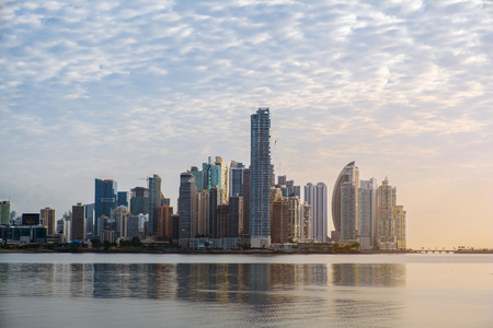 city skyline, skyscraper buildings, modern cityscape of Panama City