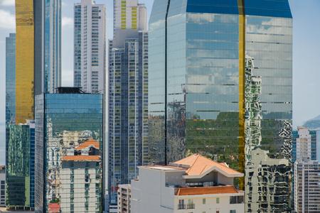 city skyline, skyscraper buildings, modern cityscape of Panama City