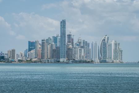 Skyscraper  skyline , coast and ocean - Panama City downtown -
