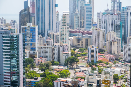 modern city Skyline aerial,   Panama City 免版税图像