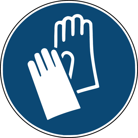 gloves icon on safety sign construction site