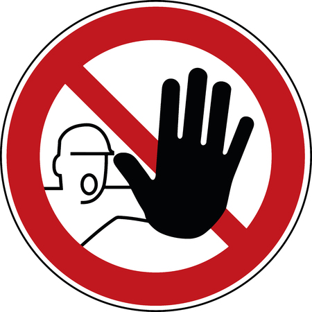no trespass sign - trespassing prohibited symbol - stop pictogram  イラスト・ベクター素材