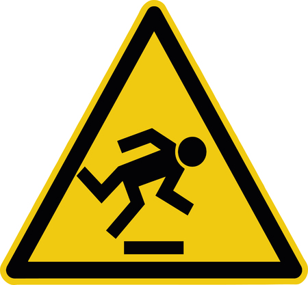 watch your step - warning sign construction site - caution symbol