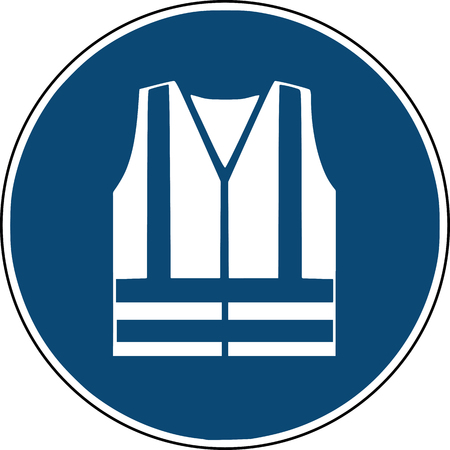 safety vest, jacket  - blue  sign construction site clothing