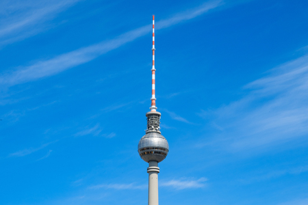 The television tower, the most famous landmark in Berlin, Germany