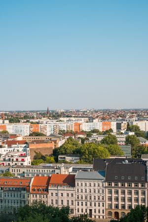 Berlin city skyline - aerial view from Mitte ro Kreuzberg
