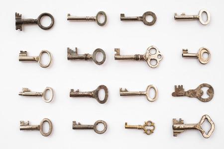 keys on white background - key pattern ,