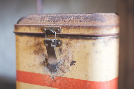old tin box for food - vintage kitchen box