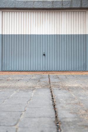 garage door - metal garage gate closed