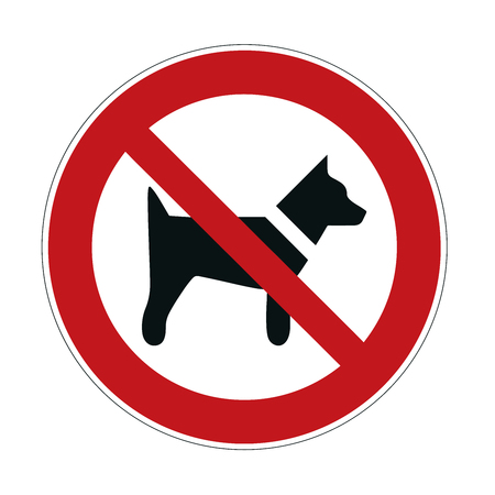 dog forbidden sign - no dogs  sign   - vector  illustration Banque d'images - 117799932